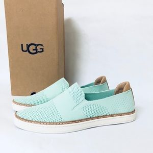 UGG SAMMY SLIP-ON SKATER SNEAKER IN AQUA